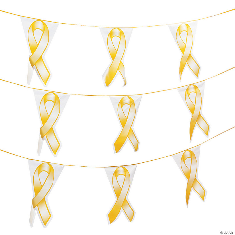 Gold Ribbon Plastic Pennant Banner Audio Thumbnail