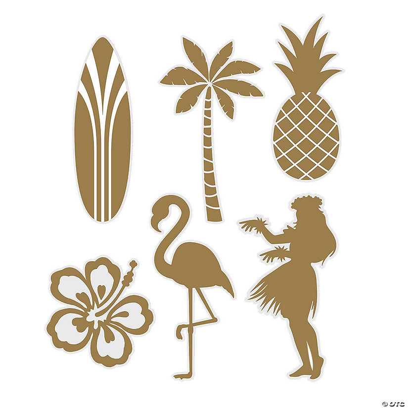 Gold Silhouette Luau Cutouts Audio Thumbnail