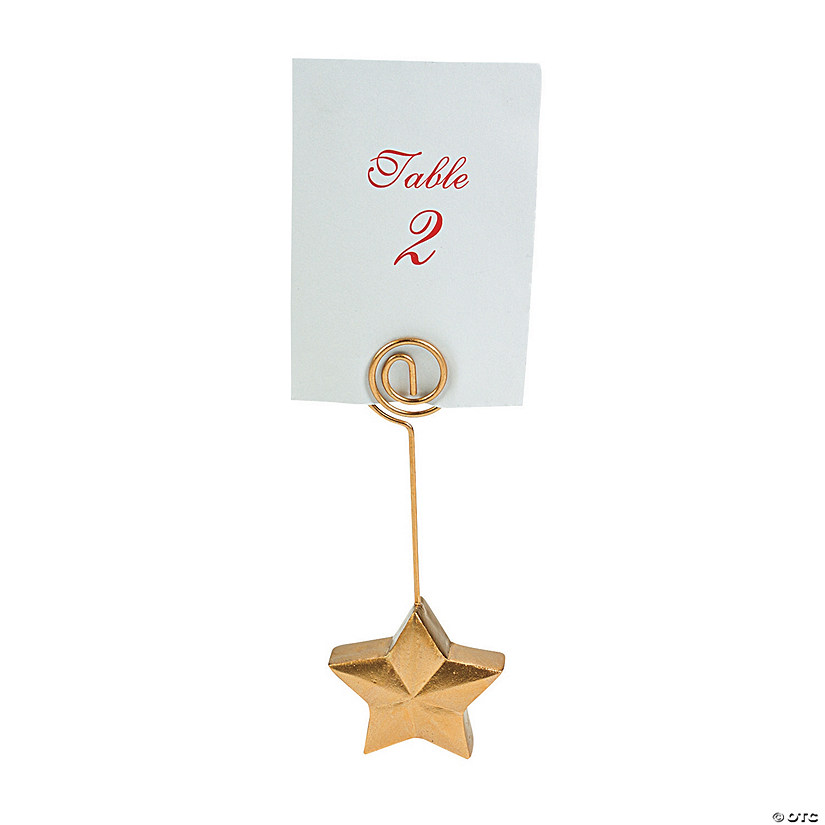 Gold Star Place Card Holders Audio Thumbnail