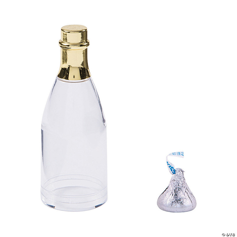 Gold Trim Champagne Bottle Favor Containers Audio Thumbnail