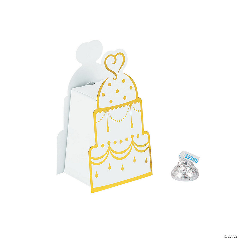 Gold Wedding Cake Favor Boxes Audio Thumbnail