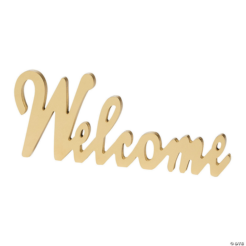 Gold Welcome Table Décor Sign Audio Thumbnail