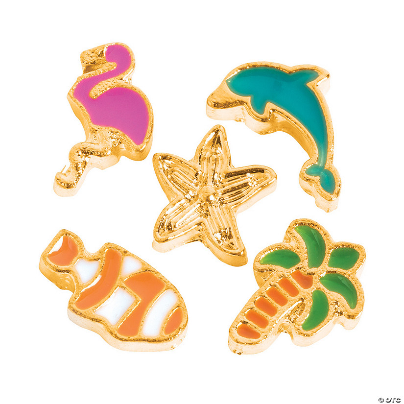 Goldtone Beach Floating Charms