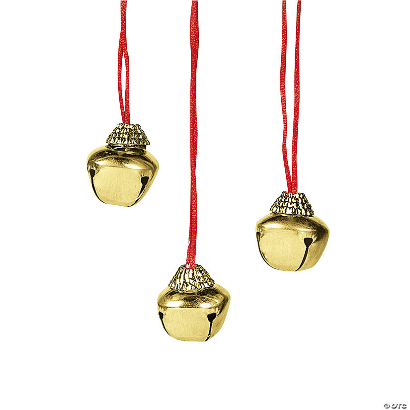 Goldtone Jingle Bell Necklaces Image Thumbnail