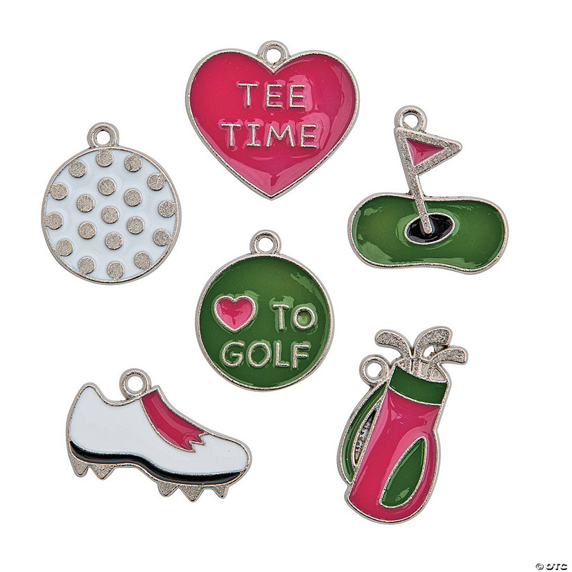 Golf Enamel Charms
