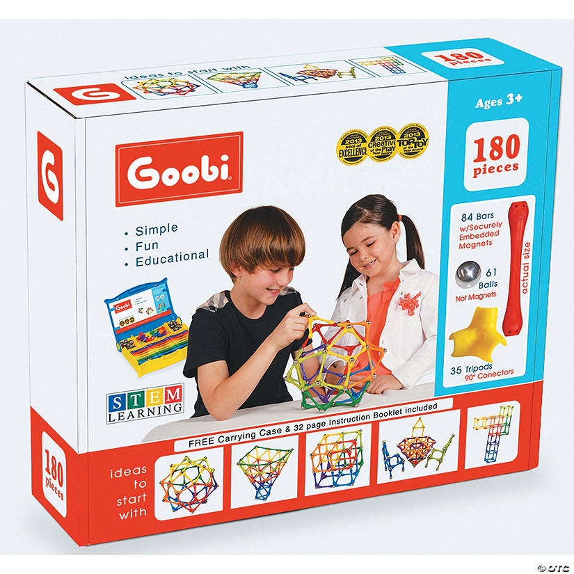 Goobi Magnetic Construction 180-Piece Master Pack Image Thumbnail