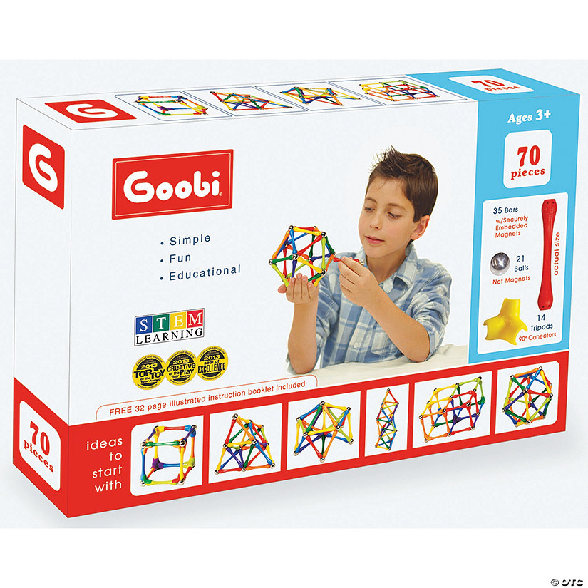 Goobi Magnetic Construction 70-Piece Pack Image Thumbnail