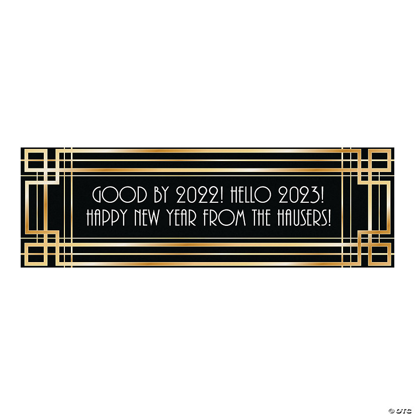 Goodbye 2020, Hello 2021 New Year's Eve Custom Banner  Oriental Trading