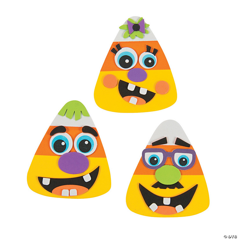 Goofy Face Candy Corn Magnet Craft Kit Image Thumbnail