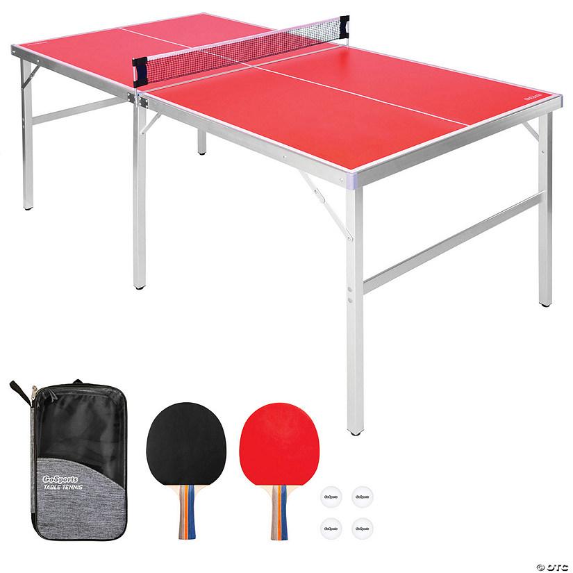 GoSports 6'x3' Mid-size Table Tennis Game Set Image Thumbnail