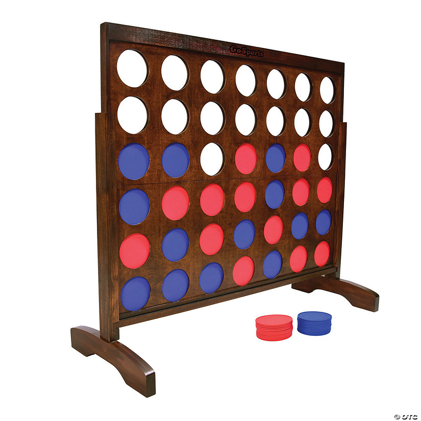 GoSports Giant Portable 4 in a Row Game Dark Wood Stain - 4' Image Thumbnail