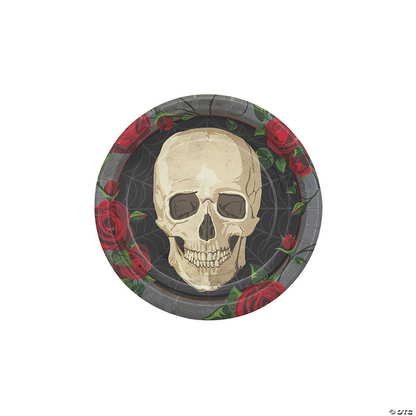 Gothic Halloween Dessert Plates - 8 Ct. Image Thumbnail
