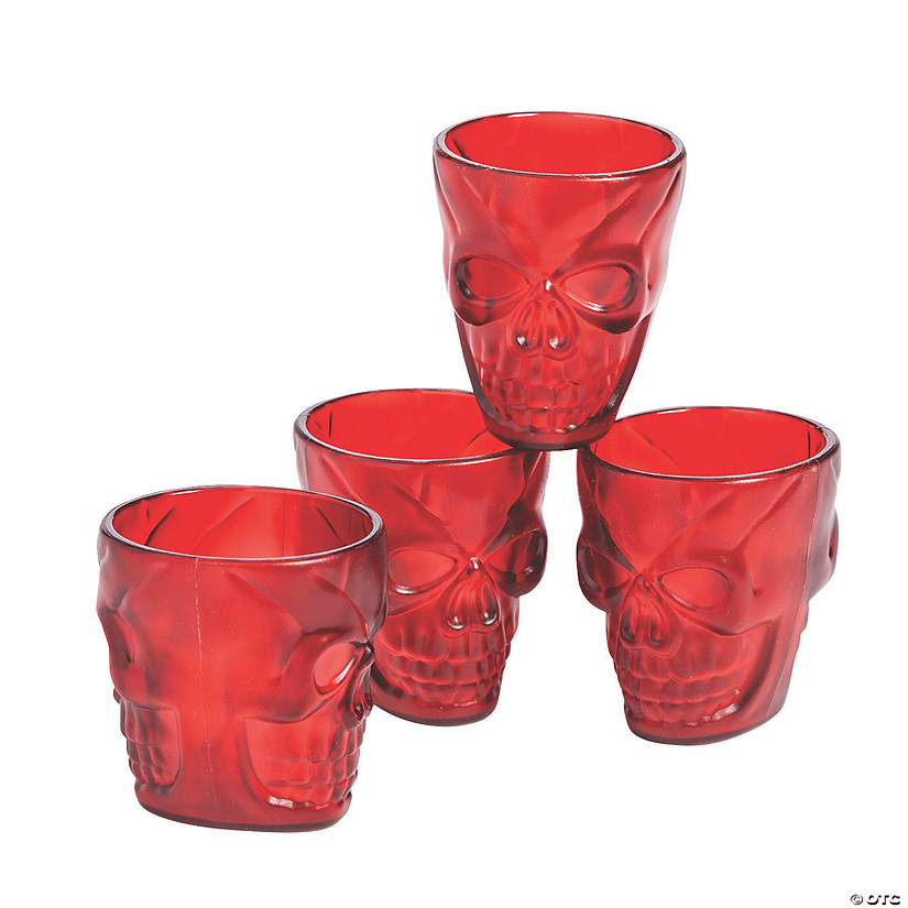 Gothic Halloween Ruby Shot Glasses Image Thumbnail