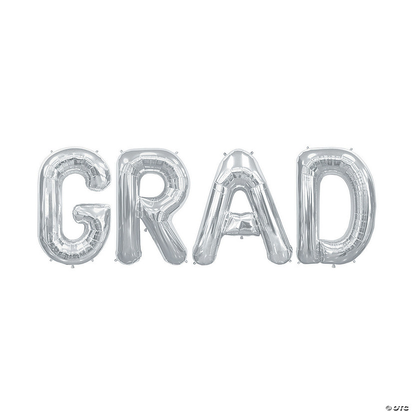 Grad Silver Mylar Balloon Kit Audio Thumbnail