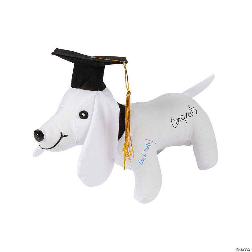 Graduation Autograph Stuffed Dog Audio Thumbnail