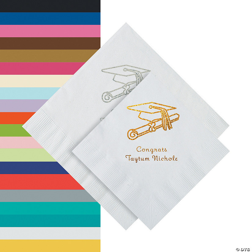 Graduation Personalized Napkins - Beverage Audio Thumbnail