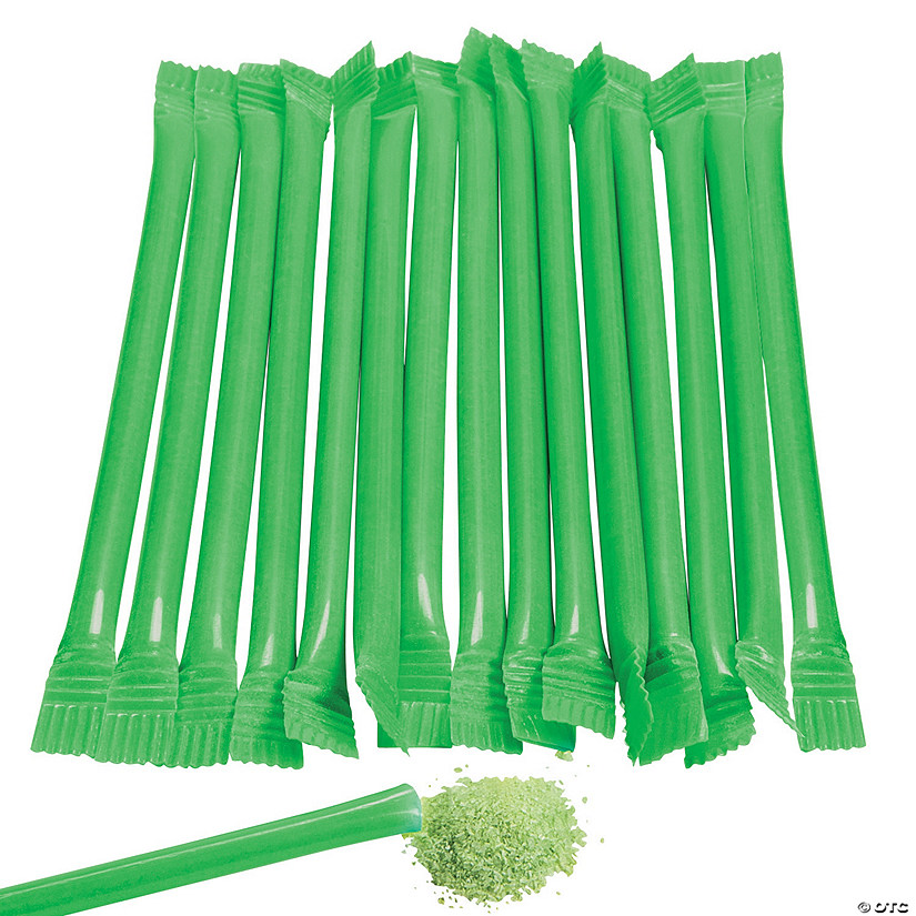 Green Candy-Filled Straws Image Thumbnail