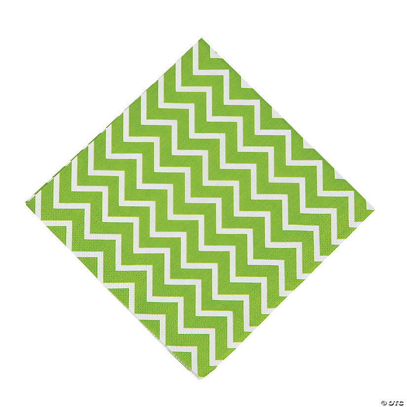 Green Chevron Luncheon Napkins Audio Thumbnail