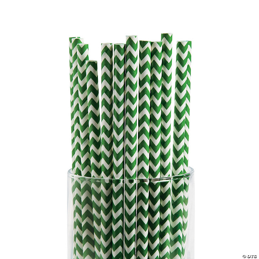 Green Chevron Paper Straws Audio Thumbnail