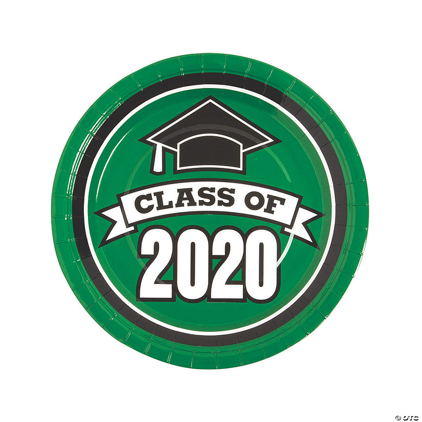 Green Class of 2020 Paper Dinner Plates - 25 Ct. Audio Thumbnail