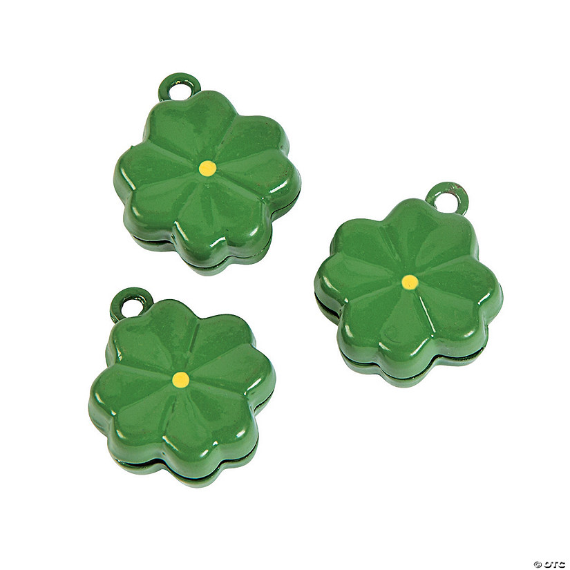 Green Clover Jingle Bell Charms Image Thumbnail