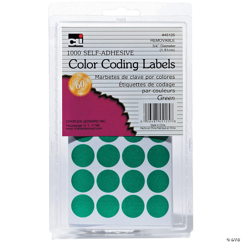 Green Color Coding Labels, Pack of 1000, Set of 12 Packs Audio Thumbnail