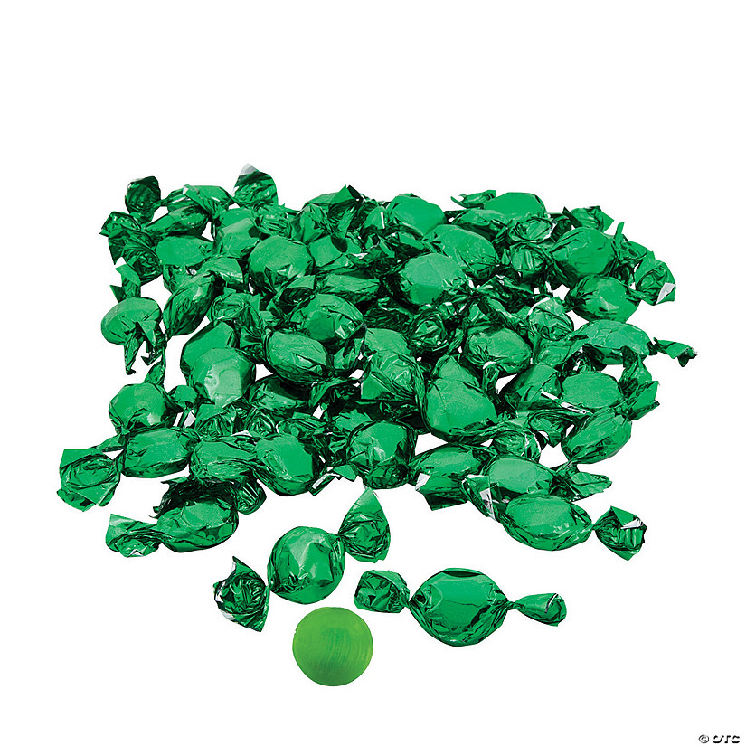 Green Foil-Wrapped Hard Candy