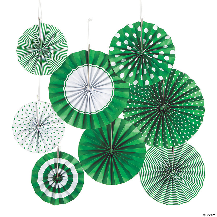 Green Hanging Paper Fan Assortment Audio Thumbnail