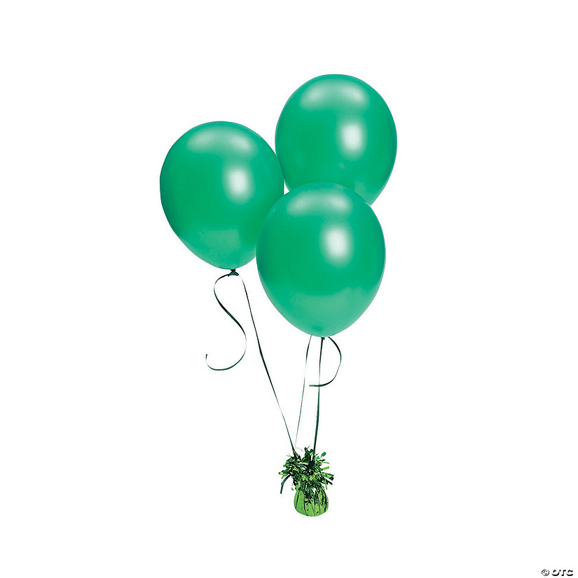"Green Metallic 11"" Latex Balloons Audio Thumbnail"