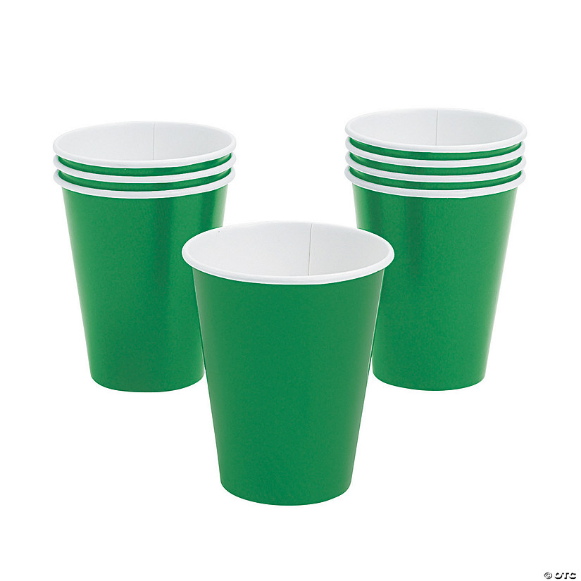 Green Paper Cups - 24 Ct. Image Thumbnail