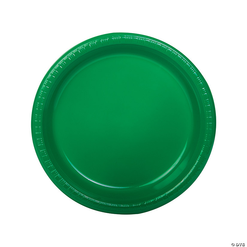Green Plastic Dinner Plates