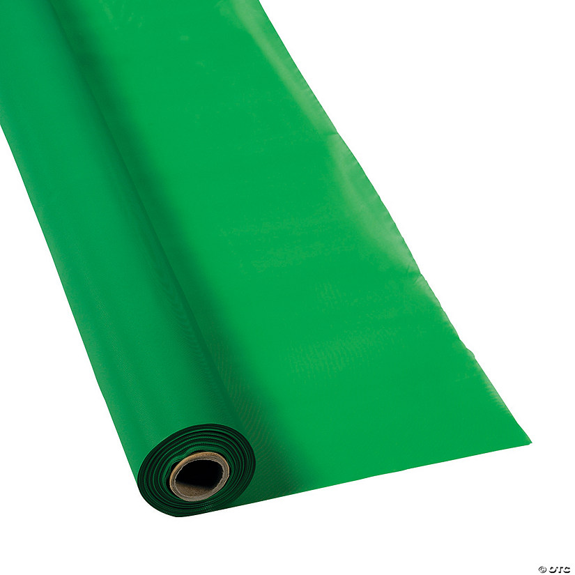 Green Plastic Tablecloth Roll Image Thumbnail