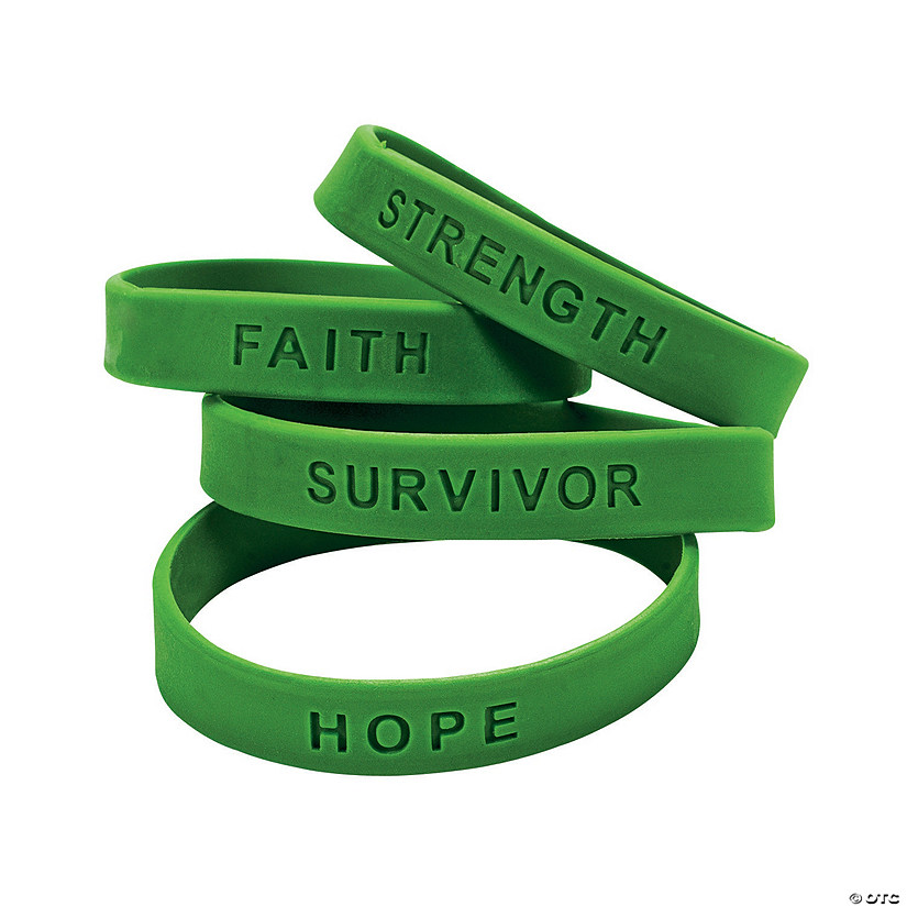 Green Ribbon Awareness Sayings Rubber Bracelets Audio Thumbnail