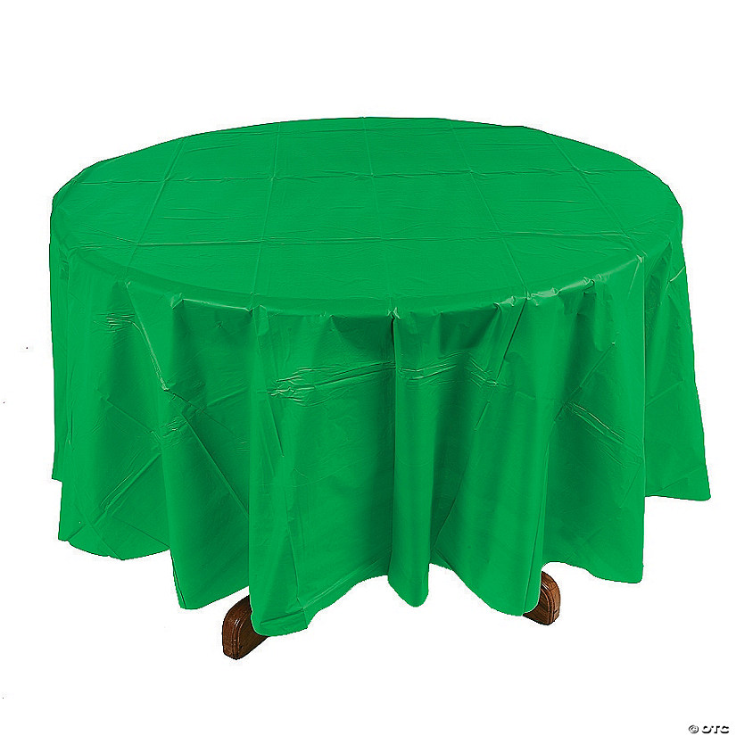 Green Round Plastic Tablecloth Audio Thumbnail