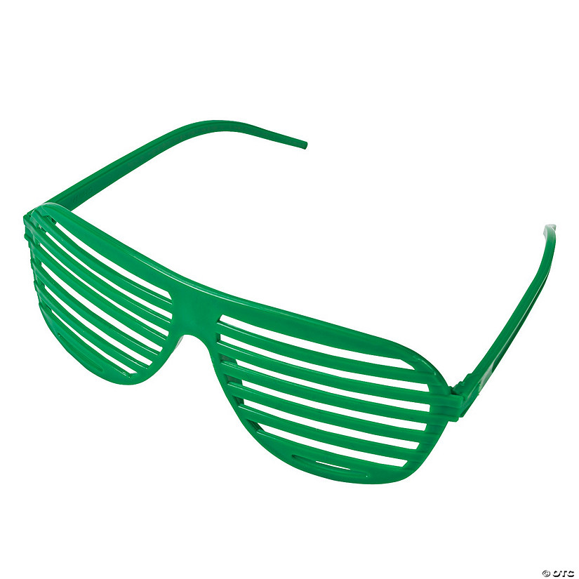 Green Shutter Glasses - 12 Pc. Image Thumbnail