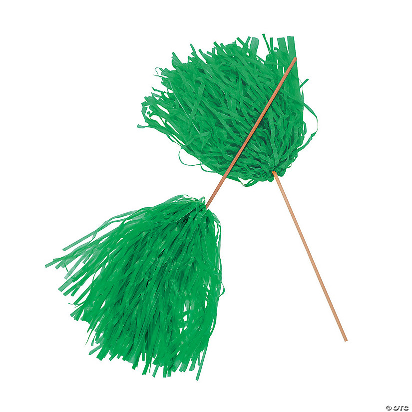 Green Spirit Pom-Poms - 24 Pc. Audio Thumbnail
