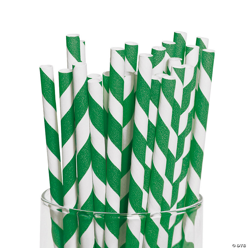 Green Striped Paper Straws Audio Thumbnail