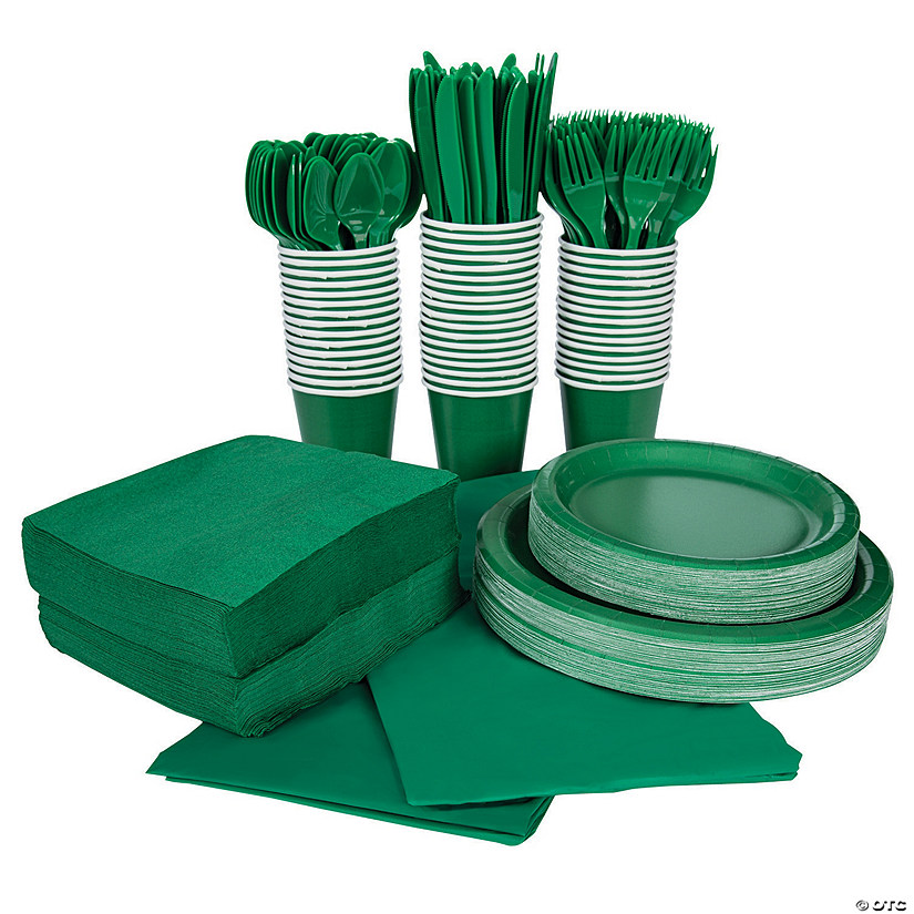 Green Tableware Kit for 48 Guests Image Thumbnail