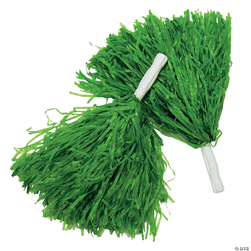 Green Team Spirit Pom-Poms - 12 Pc. Audio Thumbnail