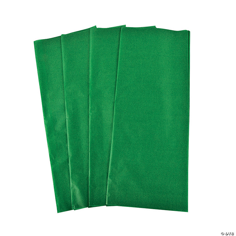 Green Tissue Paper Sheets