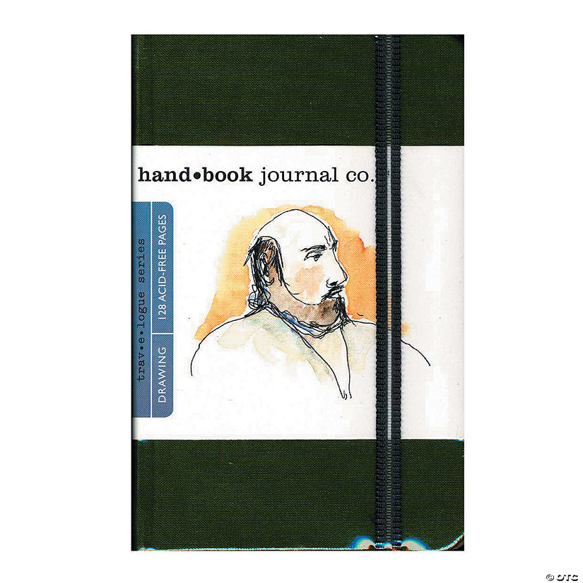 Green Travelogue Drawing Journal - Portrait