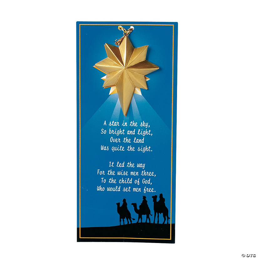 Guiding Star Christmas Ornaments on Wise Men Story Cards Image Thumbnail