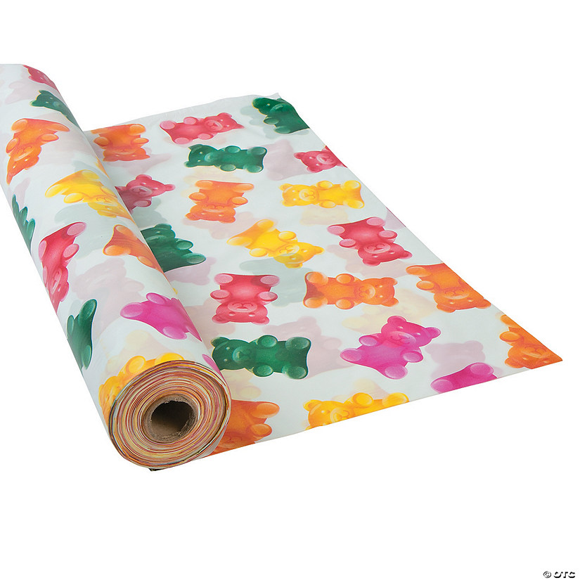 Gummy Teddy Bear Plastic Tablecloth Roll