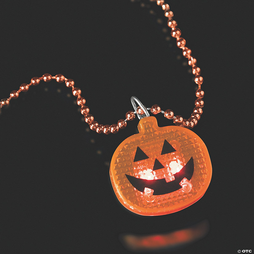 Halloween Bead Necklaces with Light-Up Pumpkin Audio Thumbnail
