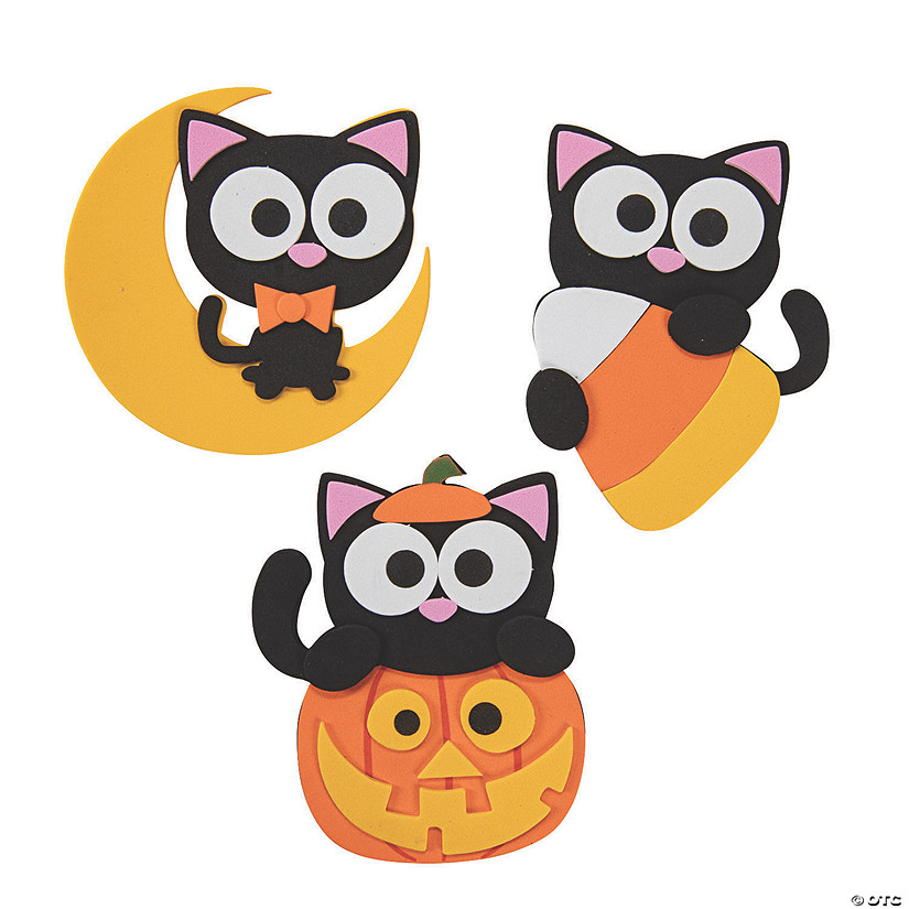 Halloween Cat Magnet Craft Kit Audio Thumbnail