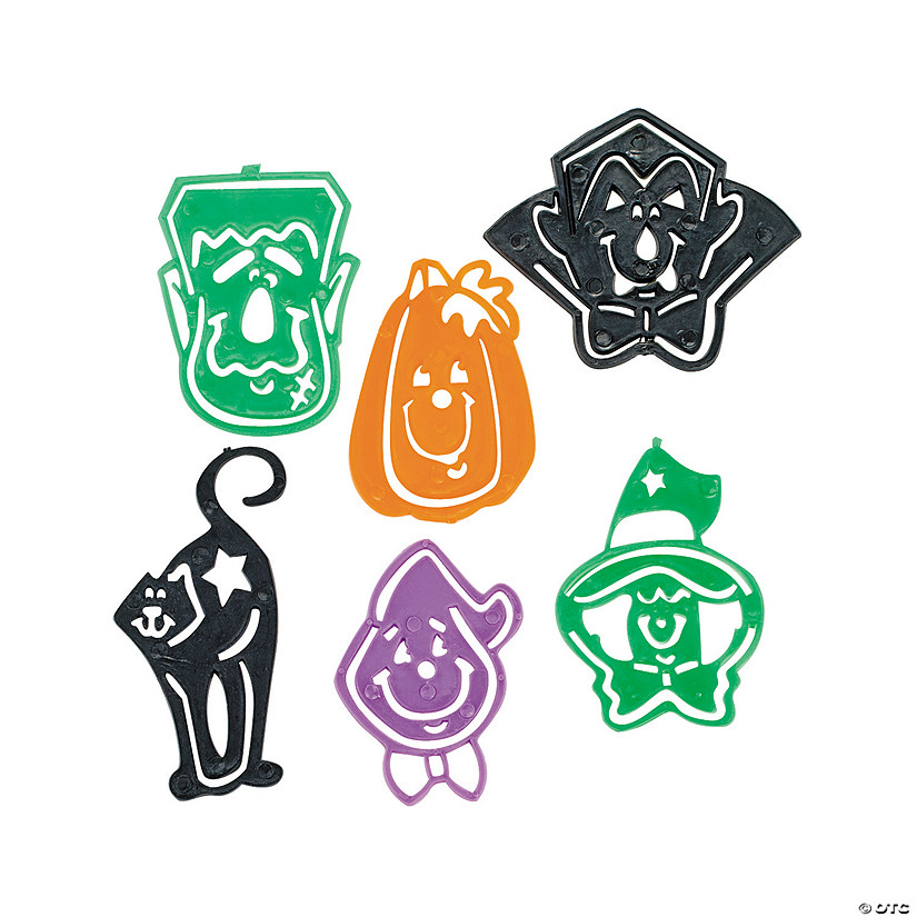 Halloween Character Stencil Bookmarks Audio Thumbnail