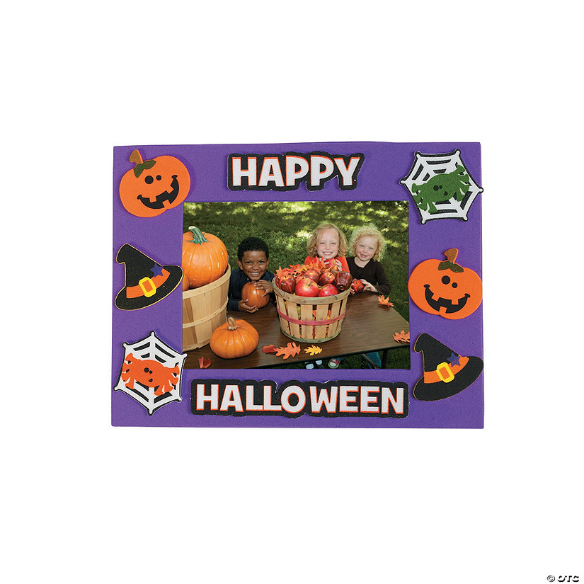 Halloween Friends Picture Frame Magnet Craft Kit Image Thumbnail
