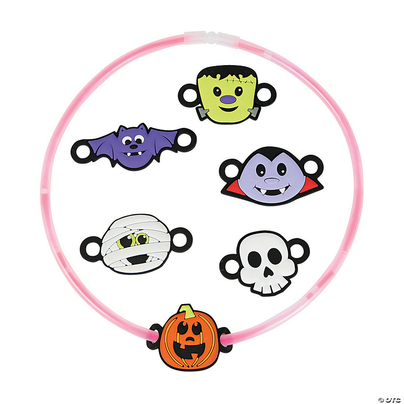 Halloween Glow Necklace Charms