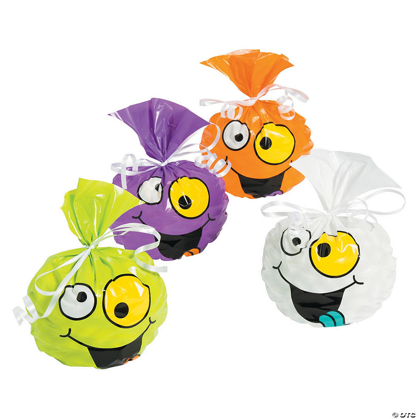 Halloween Goofy Faces Cellophane Bags