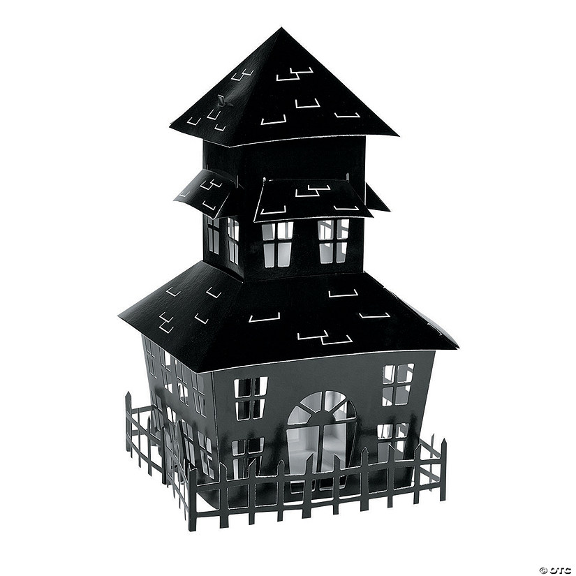 Halloween House Silhouette Centerpiece